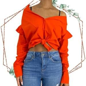 NWT Current/elliott the ashley shirt in red size 0